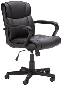 Lower Back Office Chair Flash Furniture GO ST 6 BK GG Mid Back